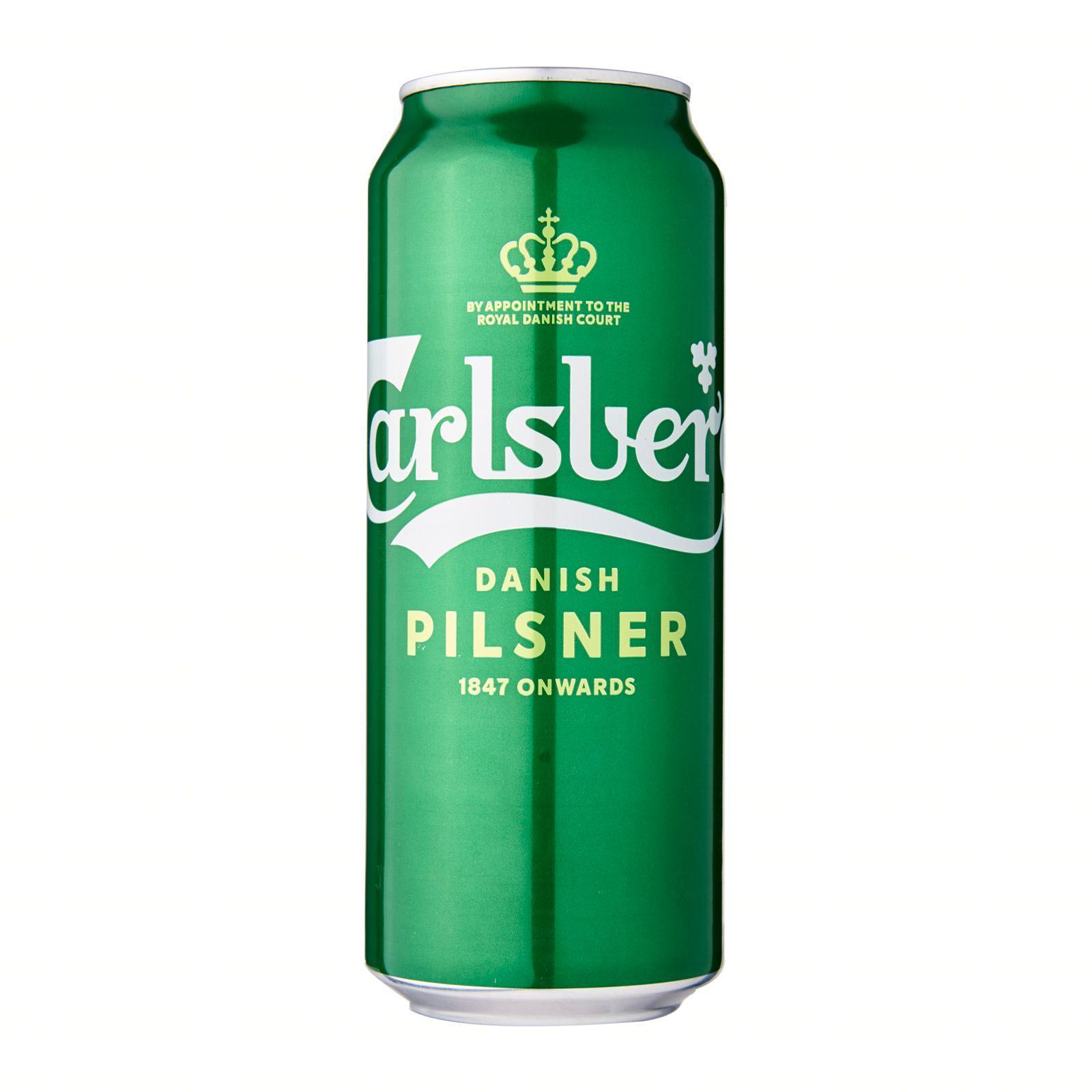 Carlsberg Danish Pilsner Beer Can 490ml Green Tab