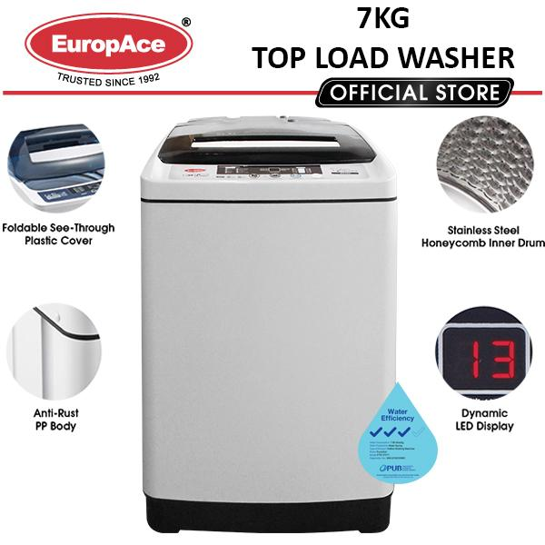 *1 Day Sale* Europace 7 Kg Top Load Washer - Free Lift Landing Delivery* By Europace Official Store.