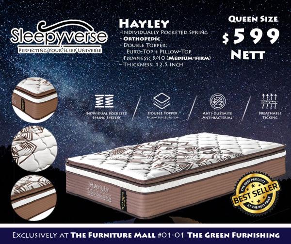 [Sleepyverse]  Hayley Orthopedic Individual Pocketed Spring Mattress (12.5-inch Thick)