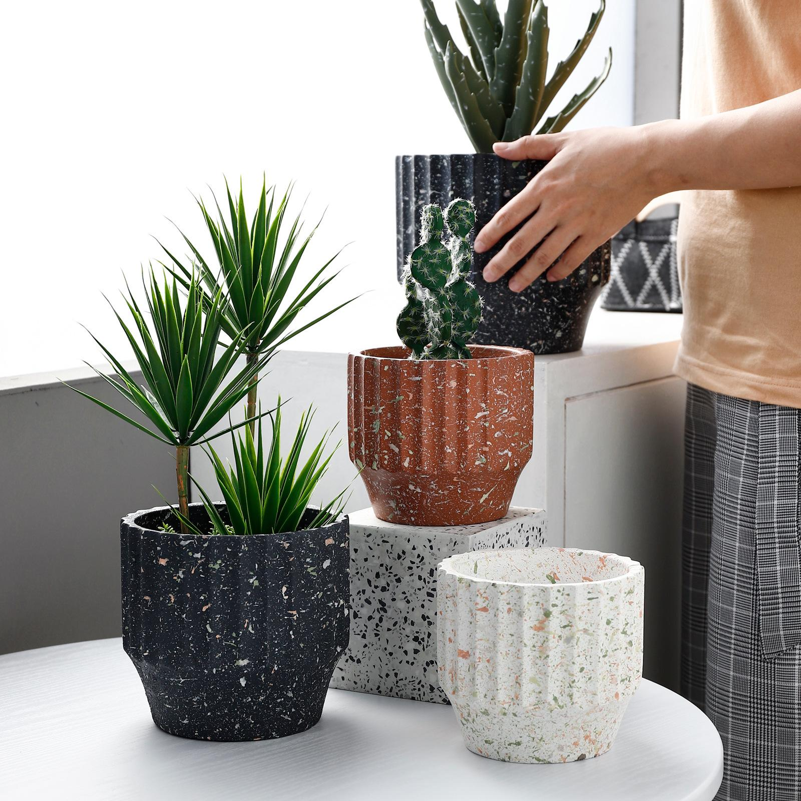 Nordic Terrazzo Design Ceramic Made Flower / Plant Pot / Planter