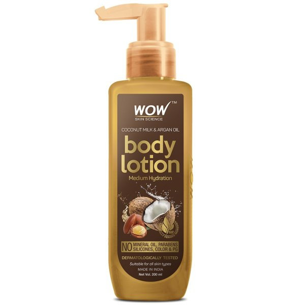 Buy WOW Skin Science Coconut Milk And Argan Oil Body Lotion, 200ml- Medium Hydration, For All Skin Types Singapore
