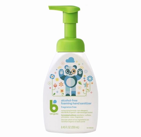 Buy Babyganics Hand Sanitizer 250ml | Fragrance & Alcohol Free | Safe For Babies & Kids | Foam Formulation | US Product Singapore
