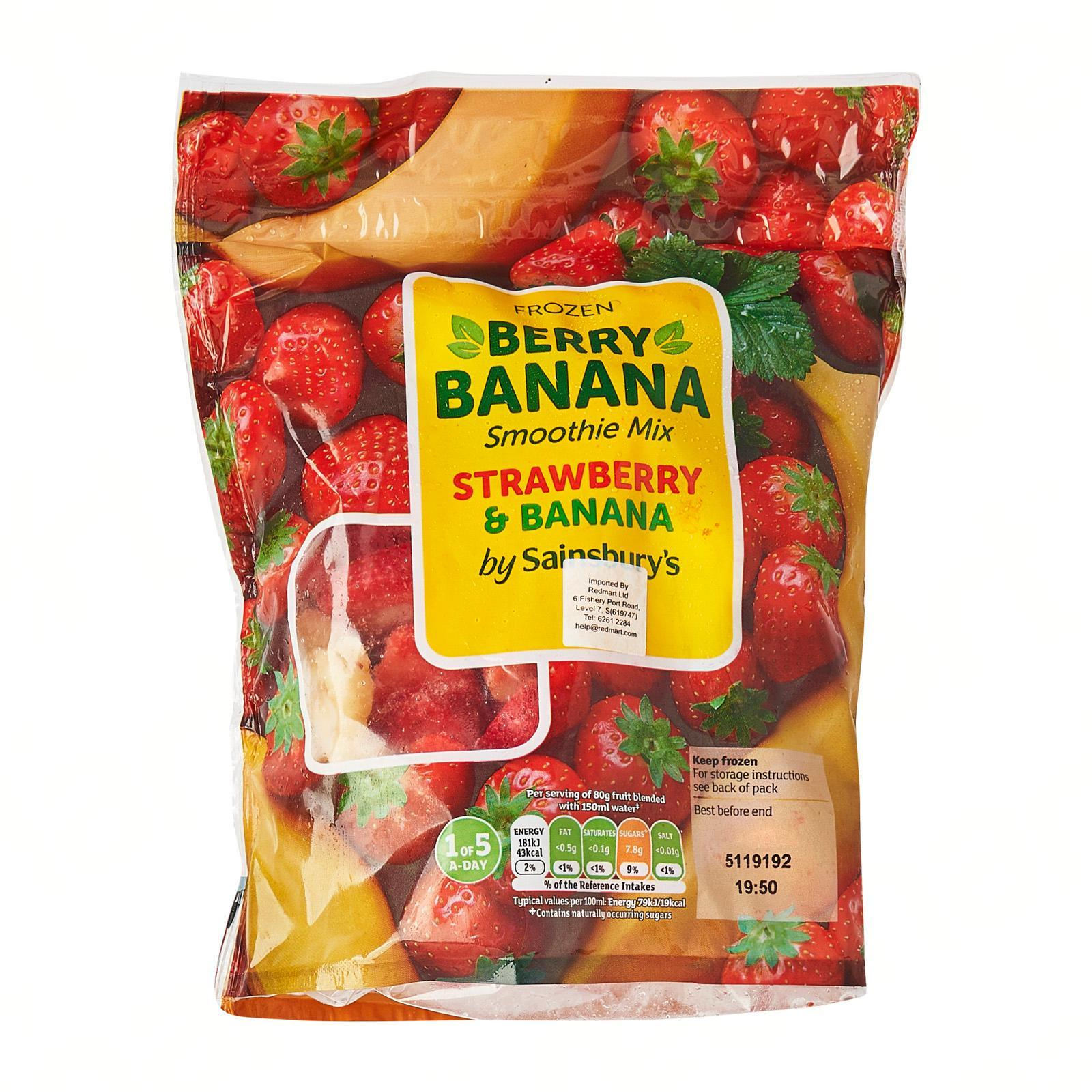Sainsbury's Strawberry And Banana Mixed Fruits - Frozen