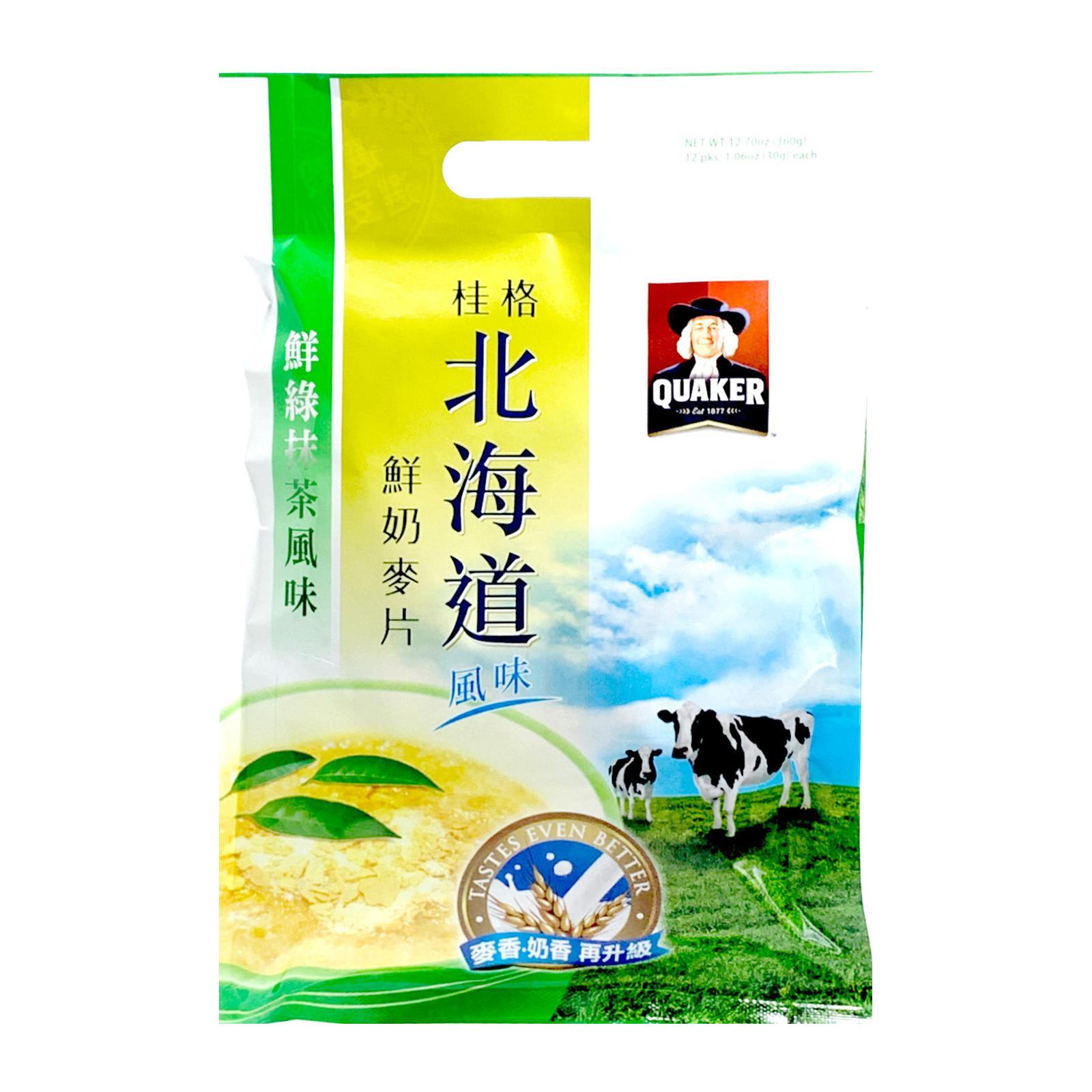 QUAKER Hokkaido Matcha Oatmeal Instant Beverage