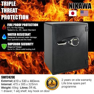 NIKAWA SWF 2420E Electronic Fire & Water Security Safe
