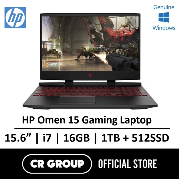 "HP Omen 15.6"" FHD Gaming Laptop Intel® Core™ i7-9750H 16GB DDR4 RAM 1TB + 256GB SSD NVIDIA GeForce GTX1650"