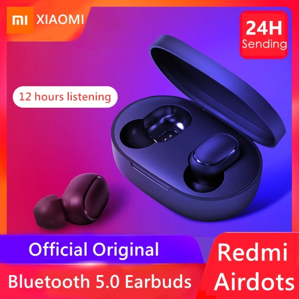 Xiaomi Redmi AirDots In Ear Bluetooth 5.0 Charging Earphone Wireless Bass Stereo Earphones With Mic Handsfree Earbuds AI Control Singapore