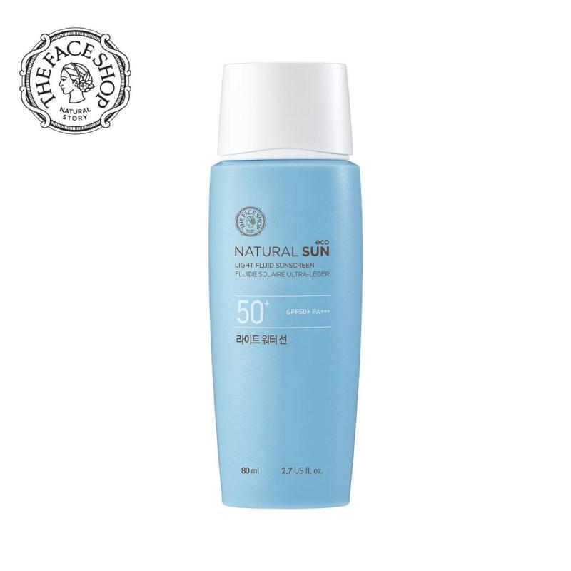 Buy THE FACE SHOP Natural Sun Eco Light Fluid Sunscreen Singapore