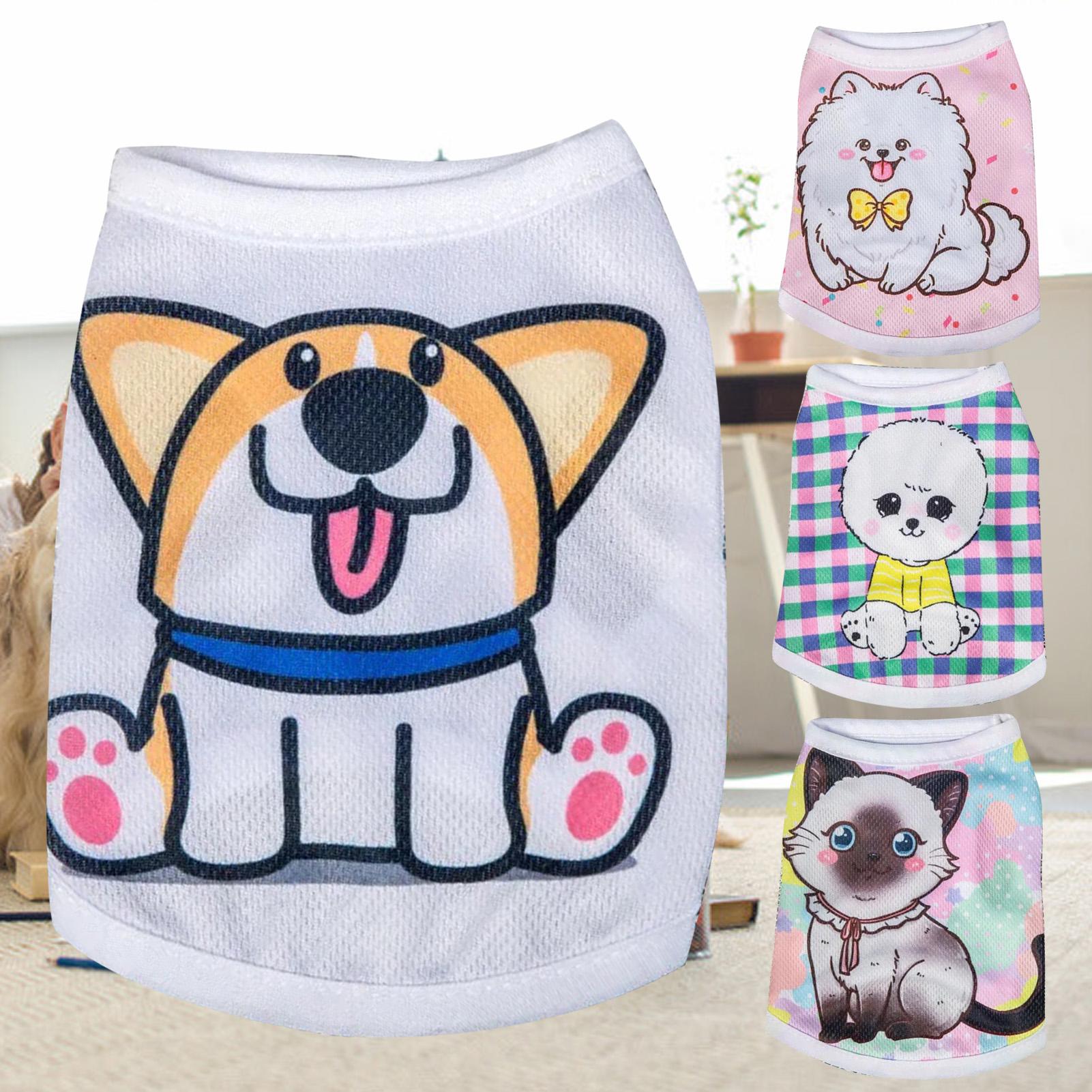 1 Chiếc Áo Lót Thú Cưng, Quần Áo Mỏng Lưới Hoạt Hình Polyester Thoáng Khí Cho Chó Mèo Chó Con