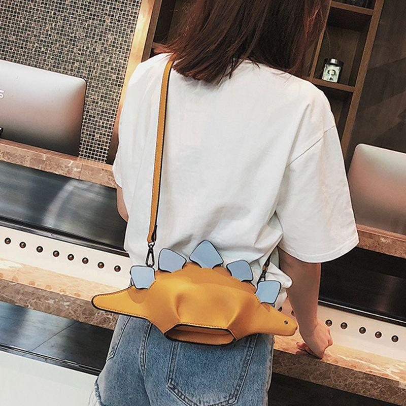 Chameleon Cartoon Handbags Flap 3D Funny Animal Messenger Bag Panelled Shoulder Crossbody Bags Girl Gift