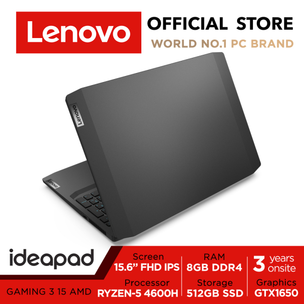 【Same Day Delivery】Lenovo ideapad Gaming 3 | Ryzen 4600H | 15.6inch FHD | AMD Ryzen 5 4600H | 8GB RAM | 512GB SSD | GTX1650 | 3 Years Onsite warranty