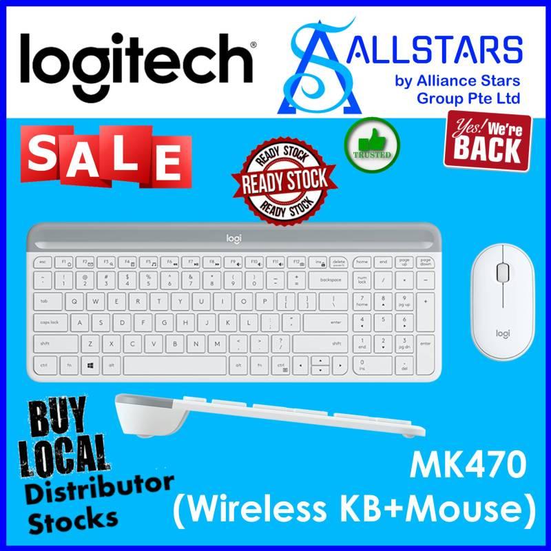 (ALLSTARS : We are Back / Keyboard Mouse Promo) LOGITECH MK470 Wireless Slim Combo (920-009182) Warranty 1year with BanLeong Singapore
