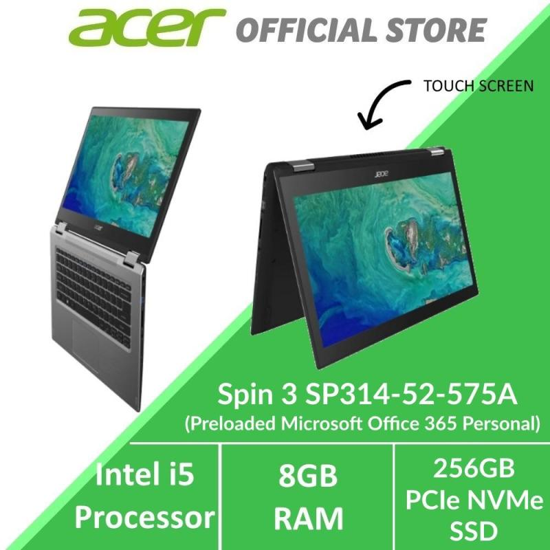 Acer Spin 3 SP314-52-575A Convertible Laptop with Intel i5 Processor - Preloaded Microsoft Office 365 Personal (Modern PC)