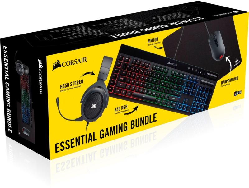 Corsair CS-CH-9206215-NA 4-Piece Essential Gaming Bundle Singapore