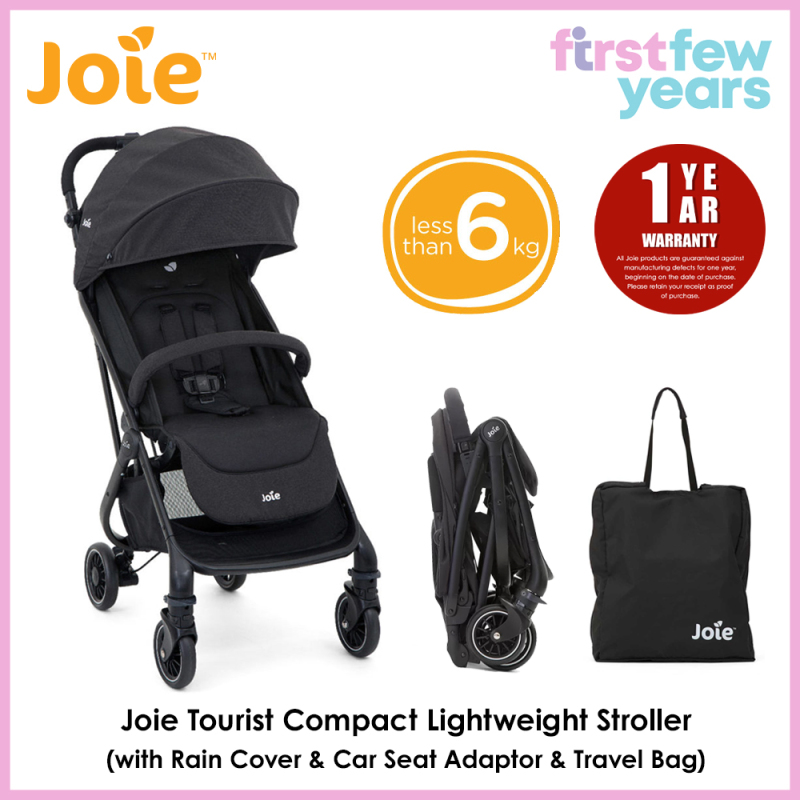 Joie Tourist Lightweight Stroller (with Rain Cover & Car Seat Adaptor & Travel Bag) Singapore