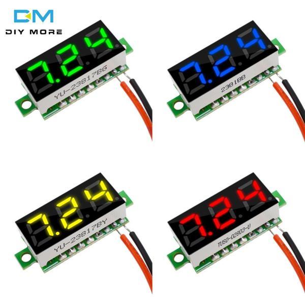 Original diymore Super mini 0.28 inch dc 2.5v-30v digital red green blue yellow led voltmeter car voltmeter voltage panel meter battery monitor