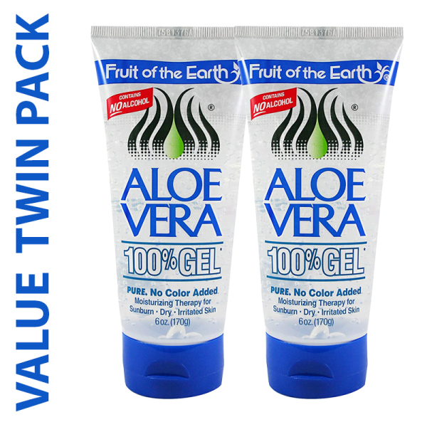 Buy *VALUE TWIN PACK* Fruit of the Earth Aloe Vera 100% Gel - 170g Singapore