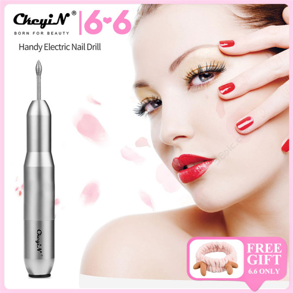 Buy CkeyiN Electric Nail Drill kit, Professional Nail File Manicure Drill Bits and Sanding Bands for Acrylic Nails, Gel Nails Singapore