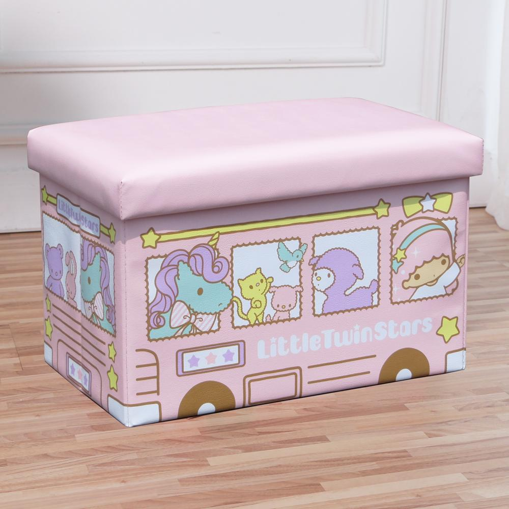 Leather Baby Toy Storage Box Cartoon Children Folding Stool Household Big Rectangular Sofa Foot Bench Sub-