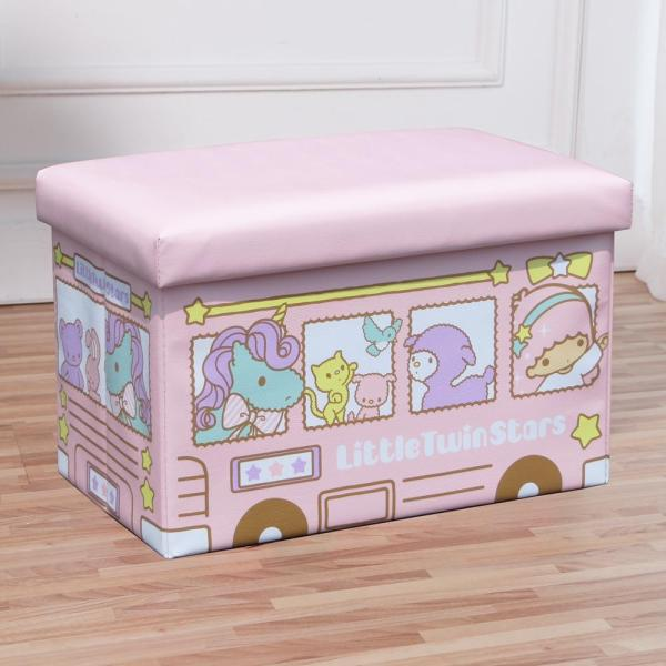 Leather Baby Toy Storage Box Cartoon Children Folding Stool Household Big Rectangular Sofa Foot Bench Sub-