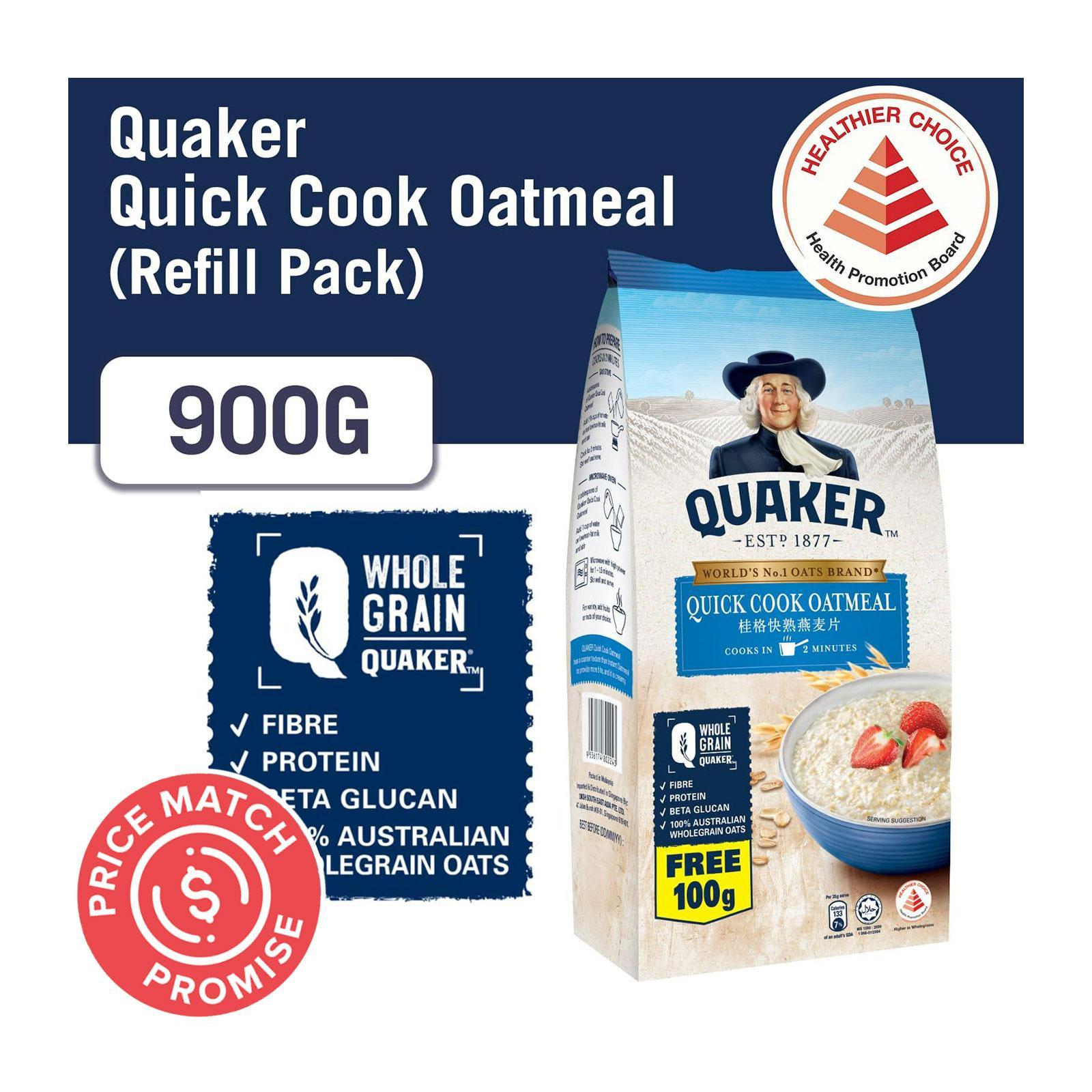 Quaker Hearty Supreme Quick Cook Oatmeal Refill Pack