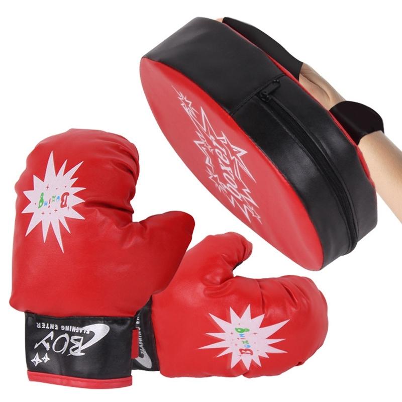 Childrens Boxing Gloves Boxer Target Childrens Professional Training Wrestling Gloves Hand Target Children Fighting Gloves Hand Target Breathable Gloves Boxing Equipment