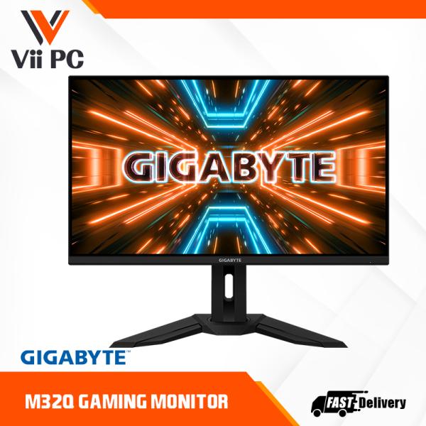 GIGABYTE M32Q 32 165Hz/170Hz(OC) 1440P QHD KVM Gaming Monitor(2560 x 1440, 0.8ms , 94% DCI-P3, HDR Ready)