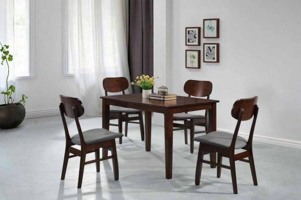 [Furniture Amart] Korean style Dining Set in Walnut with cushion(Free Install)!!