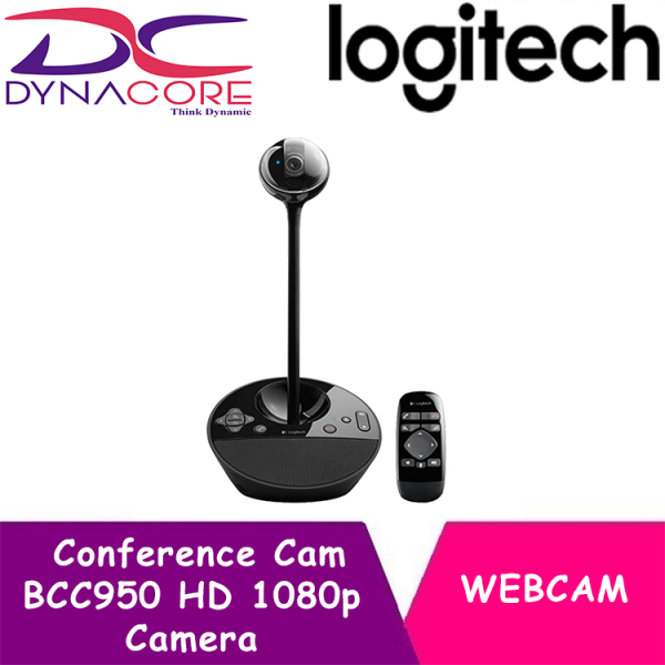 DYNACORE - Logitech BCC950 Video Conference Webcam, HD 1080p Camera with Built-In Speakerphone