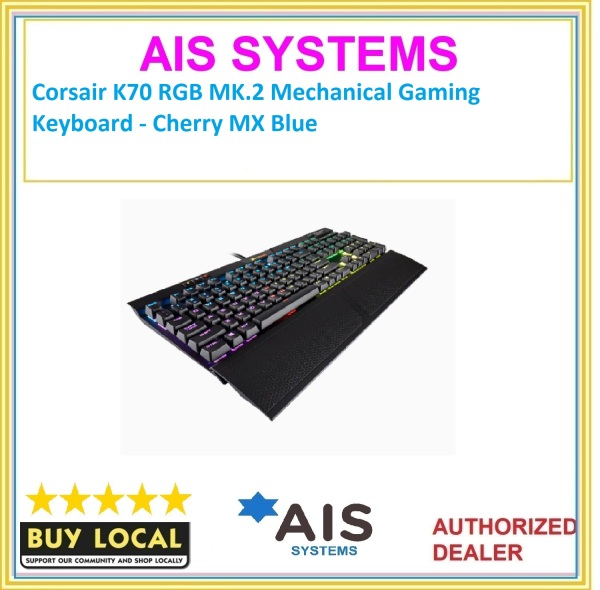Corsair K70 RGB MK.2 Mechanical Gaming Keyboard - Cherry MX Blue Singapore