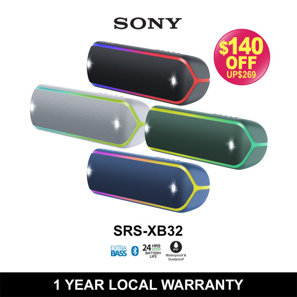 Sony SRS-XB32 EXTRA BASS™ Wireless Speaker Singapore