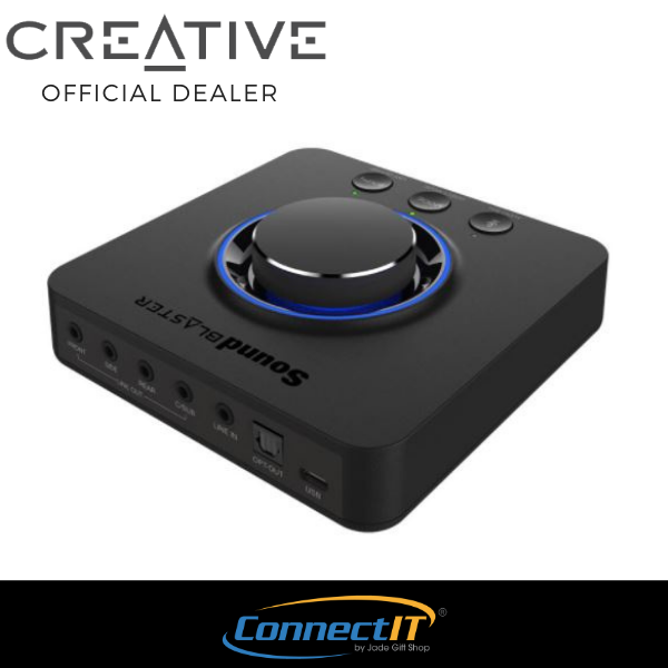 Creative Sound Blaster X3 Multi-purpose Desktop Amplifier with 7.1 Virtual Surround for Windows PC | macOS | PS4™ | PS5™ and Nintendo Switch™ (Local 1 year Warranty) Singapore