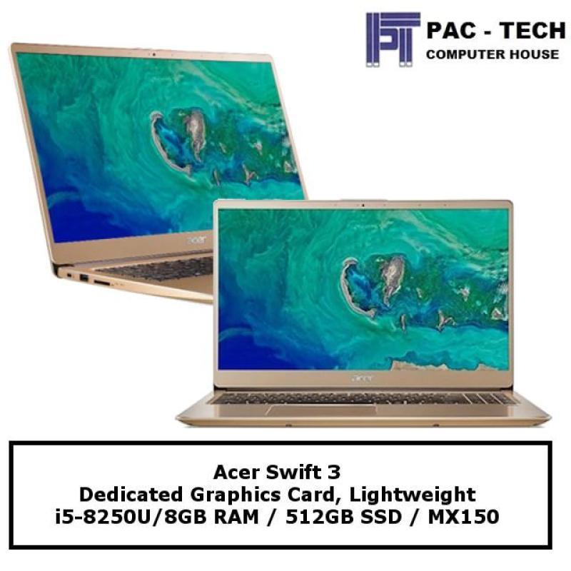 Acer Swift 3 (SF315-52G-56UD) / 15.6  FHD / 8GB Ram / 512GB SSD / MX150 / Windows 10 /  2 Year Warranty