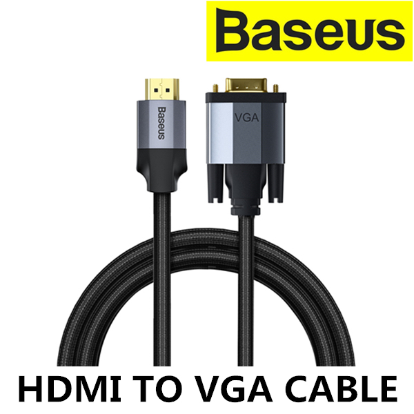 BASEUS HDMI Male to VGA Male 1080HD Adapter Cable Line 1m/2m Enjoyment Series Laptop Projector Computer TV