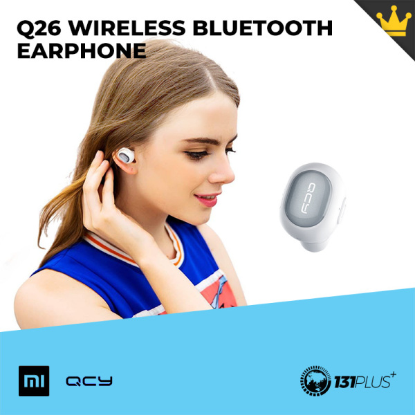 Xiaomi QCY Q26 Wireless Bluetooth Earphone [ Earbuds, Headphone, In-Ear, Long Endurance, Bluetooth 4.1, IPX2, 45mAh, Fast Pairing, Independent Cavity, Echo Processing, 8mm Magnetic Speaker, Mini, Compact Size, Ergonomically Design ] Singapore