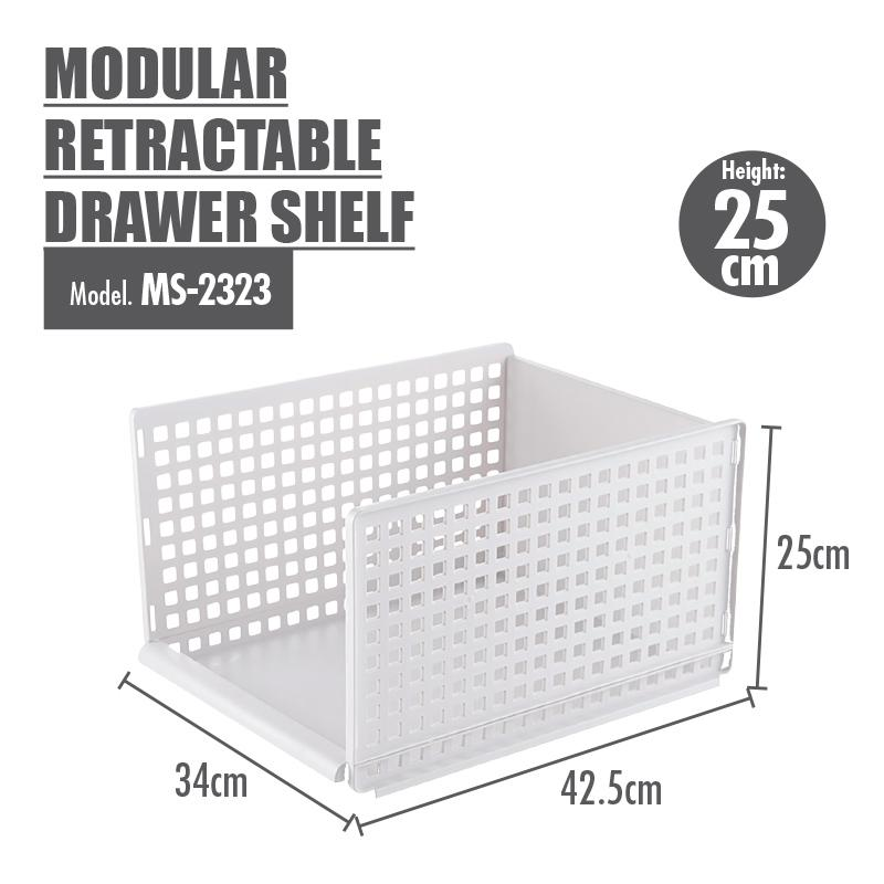 HOUZE - Modular Retractable Drawer Shelf (Height: 25cm) [BUY 2 FREE 1]