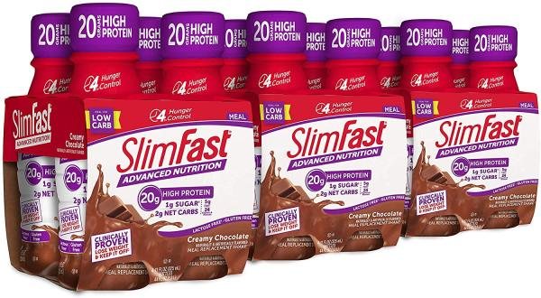 Buy SlimFast Meal Replacement Protein Shake Ready To Drink 20G Protein Keto Friendly 325ml 12 Bottles Creamy Chocolate FREE Shipping 2-3 Days by Racepack Singapore