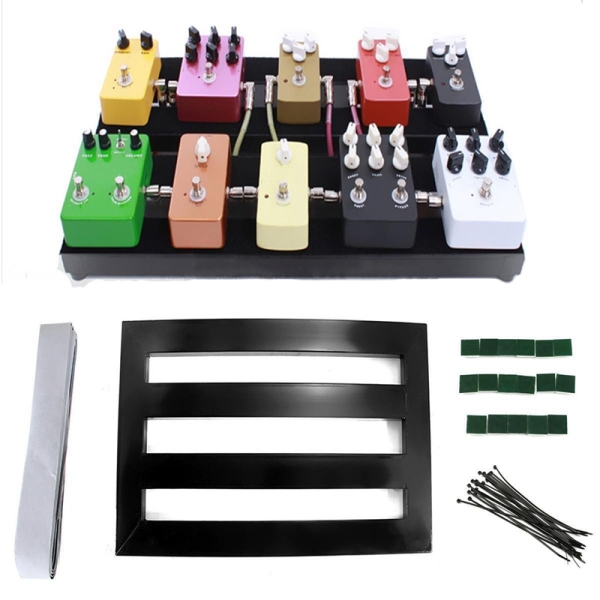 Guitar Effect Pedalboard Portable Effects Pedal Board With Adhesive Backing Tape