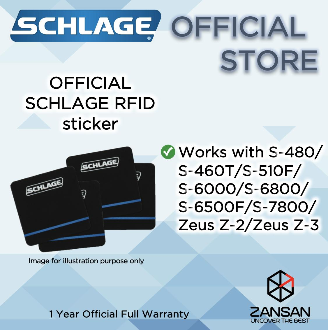 Schlage RFID Sticker With SCHLAGE Branding