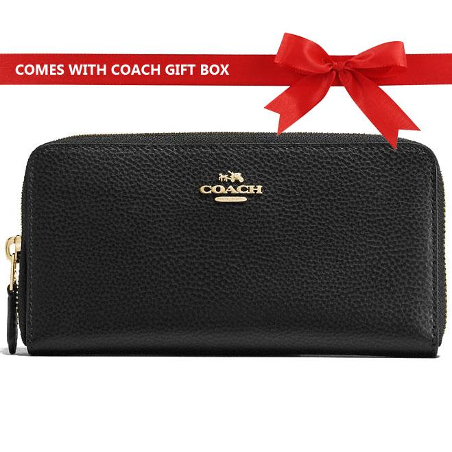 4159eb2dc3f9 ... italy singapore. coach wallet in gift box 100 authentic accordion zip  wallet long continental wallet
