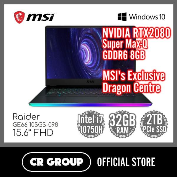 MSI GE66 Raider 10SGS-098 15.6 Inch FHD  | NVIDIA RTX2080 Super Max-Q GDDR6 8GB | Intel Core i7-10750H | 32GB DDR4 RAM | 2TB PCle SSD