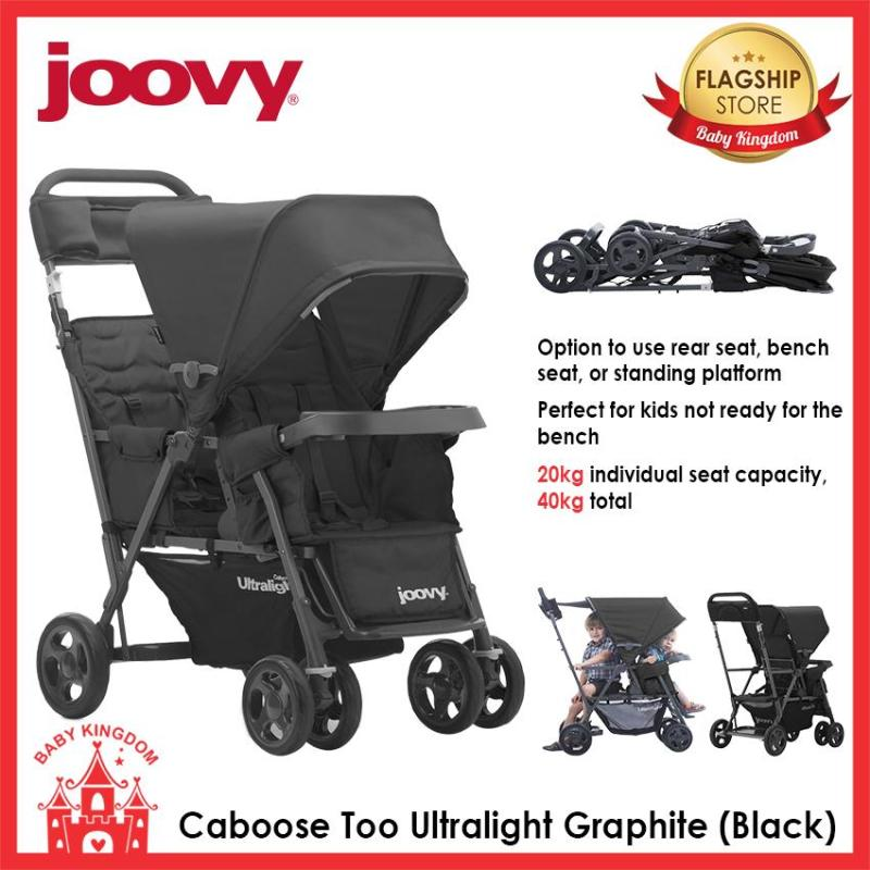 Joovy Caboose Ultralight Too Sit and Stand Stroller (Up to 40kg) Singapore