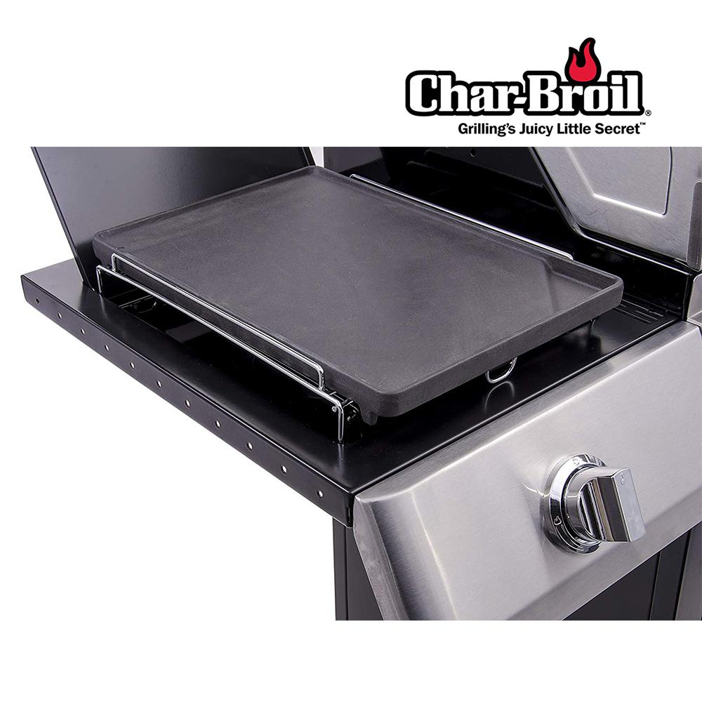 [Side Burner Converter] Char-Broil Porcelain Coated Cast Iron BBQ Griddle (37cm x 25.5cm)