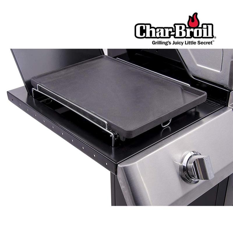 [Side Burner Converter] Char-Broil Porcelain Coated Cast Iron BBQ Griddle (37cm x 25.5cm)