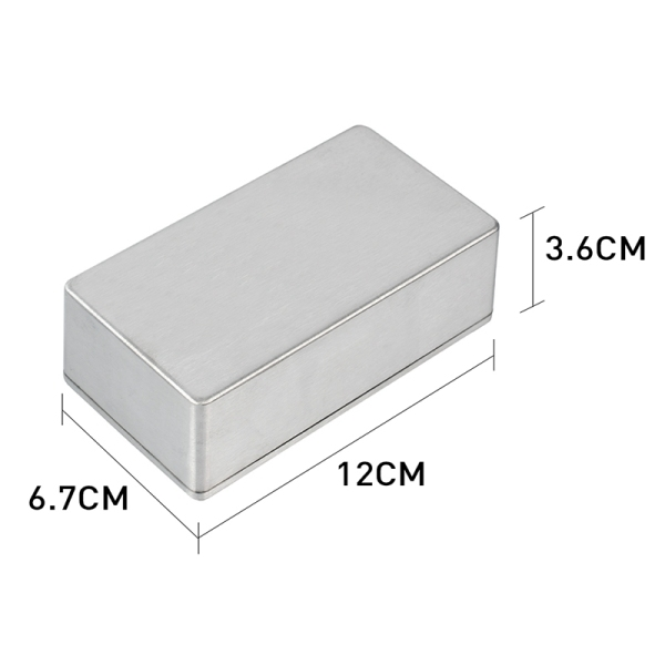 Diecast Aluminum Enclosure Guitar Pedal Effect Stompbox&Pedal Enclosure for Guitar Effect Pedal 12X6.7X3.6CM