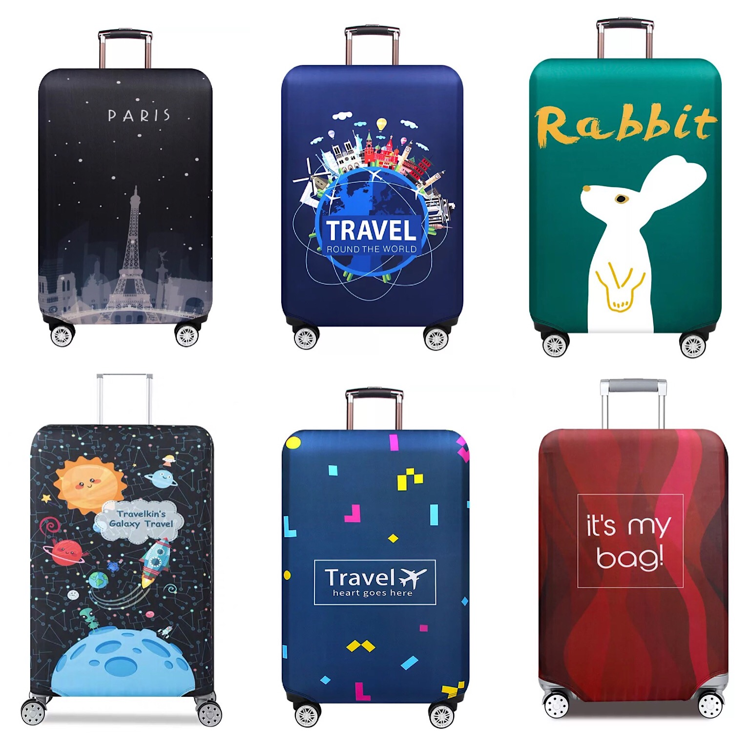Luggage Cover (zipper closure) Elastic Suitcase Cover Luggage Protector (S,M,L,XL) 20  22  24  25  28