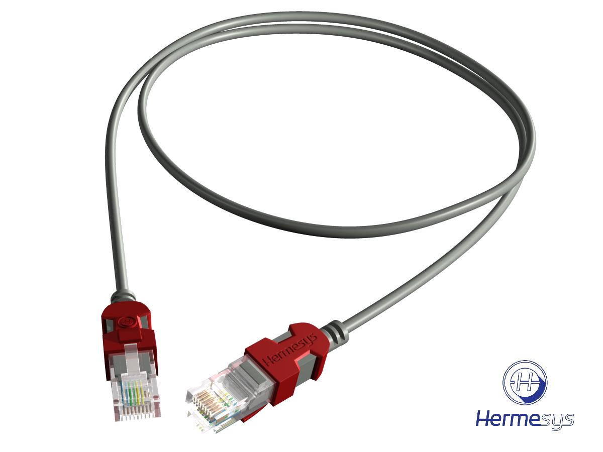 Hermesys HydraX Cat6 U/UTP Patchcord Grey 1M