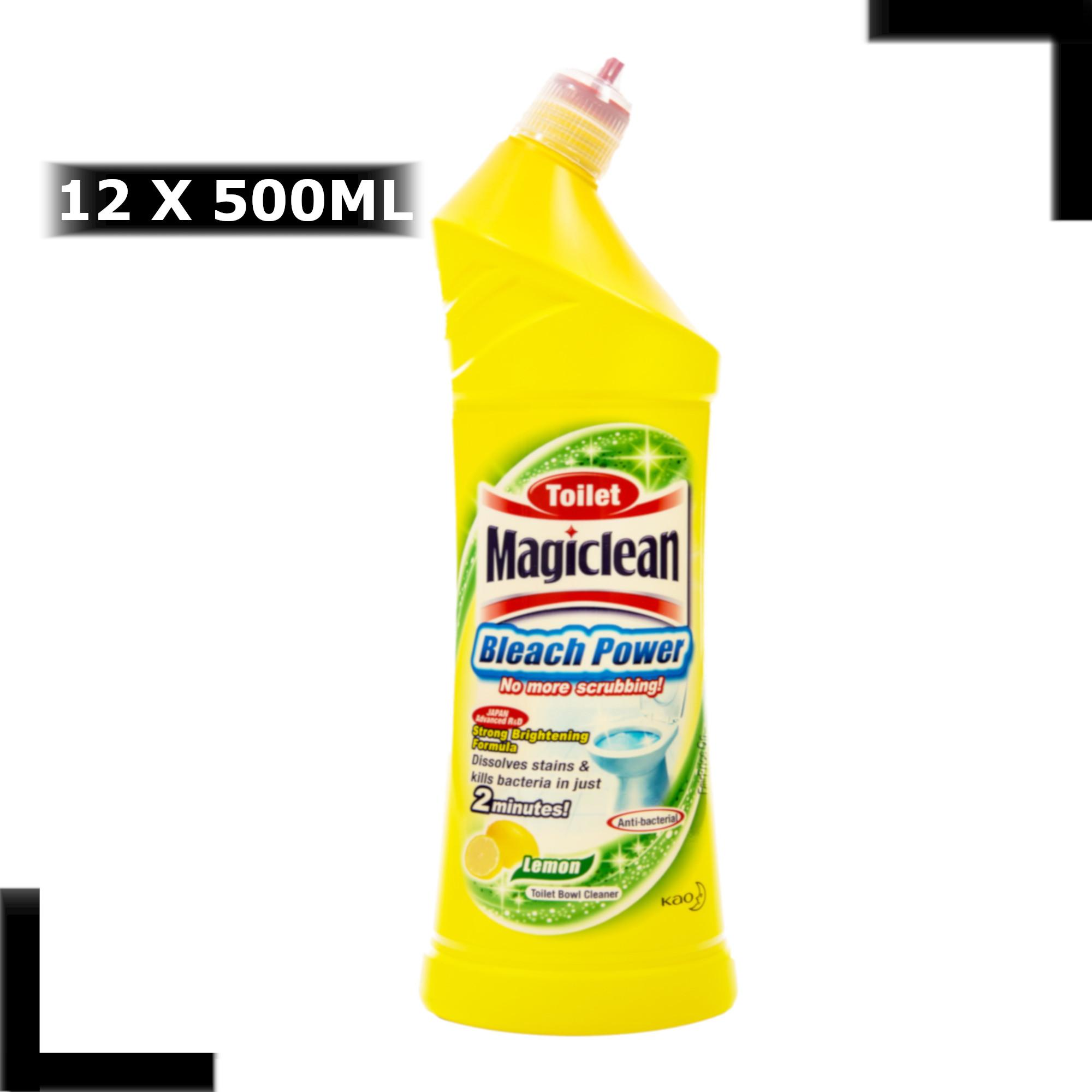 MAGICLEAN Toilet Bleach Power Cleaner - Lemon (12 X 500ML)
