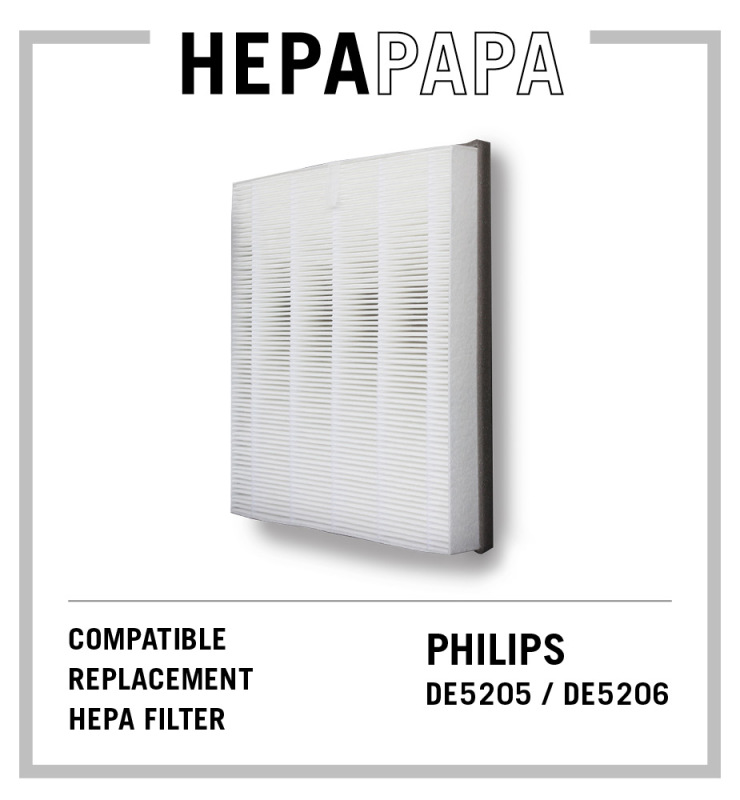 Philips DE5205 DE5206 Compatible HEPA Filter Compatible Filter Model No: FY1119 [HEPAPAPA] [Free Alcohol Swabs] Singapore