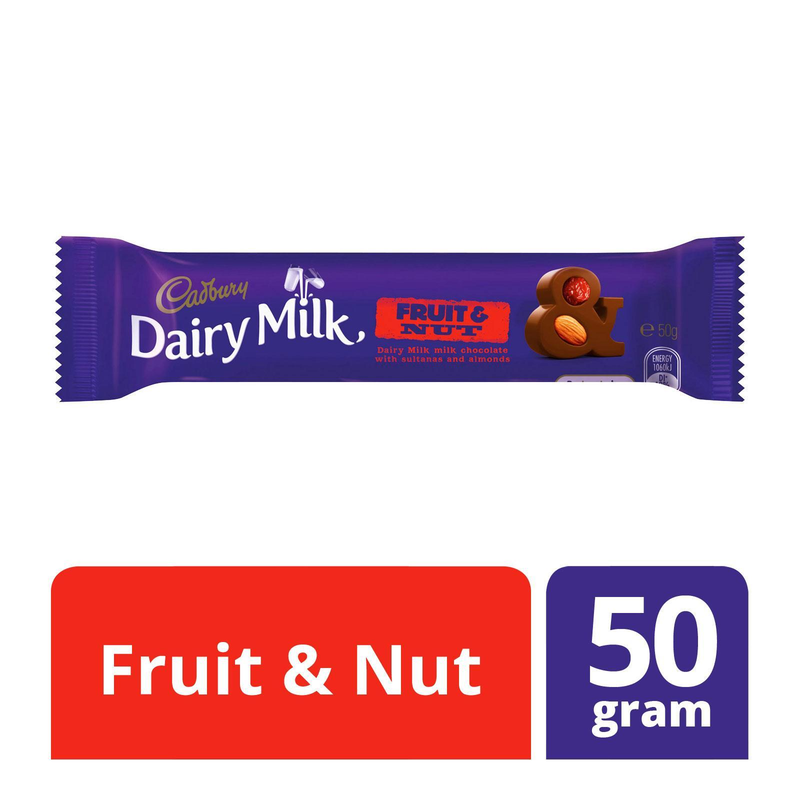 Cadbury Dairy Milk Fruit and Nut Milk Chocolate Bar